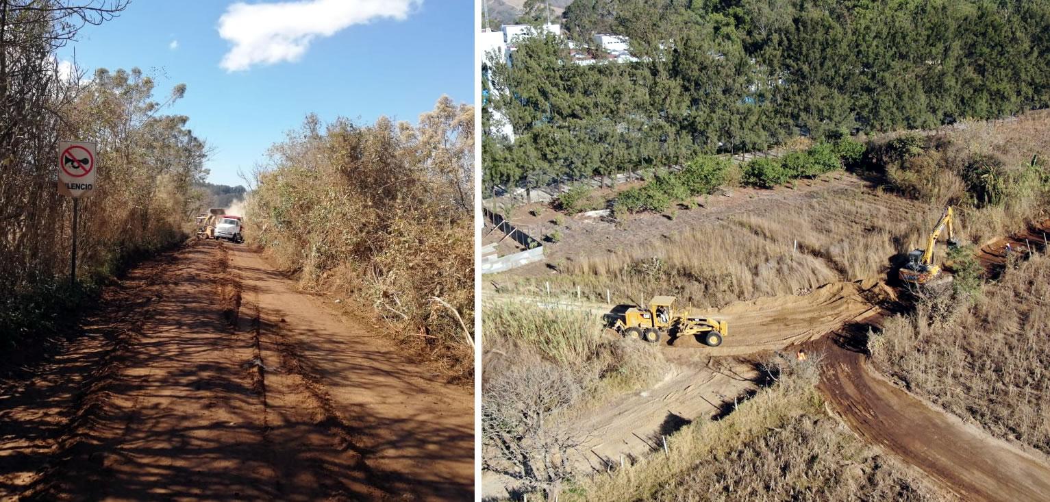 cementos progreso inicia la pavimentación del ingreso al hospital de Villa Nueva CEMPRO