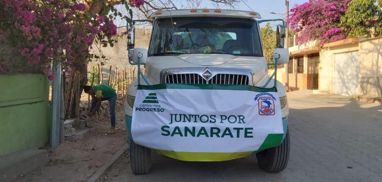 Tren de agua para Sanarate; queremos que todos se cuiden CEMPRO Cementos Progreso Guatemala