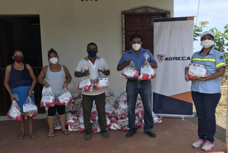 Familias de Coatepeque reciben víveres e insumos para hacerle frente al coronavirus cempro cementos progreso agreca guatemala