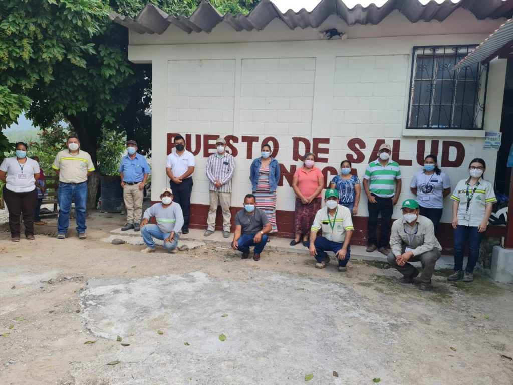 mejoramiento puesto de salud aldea el sinaca el progreso sanarate cementos guatemala