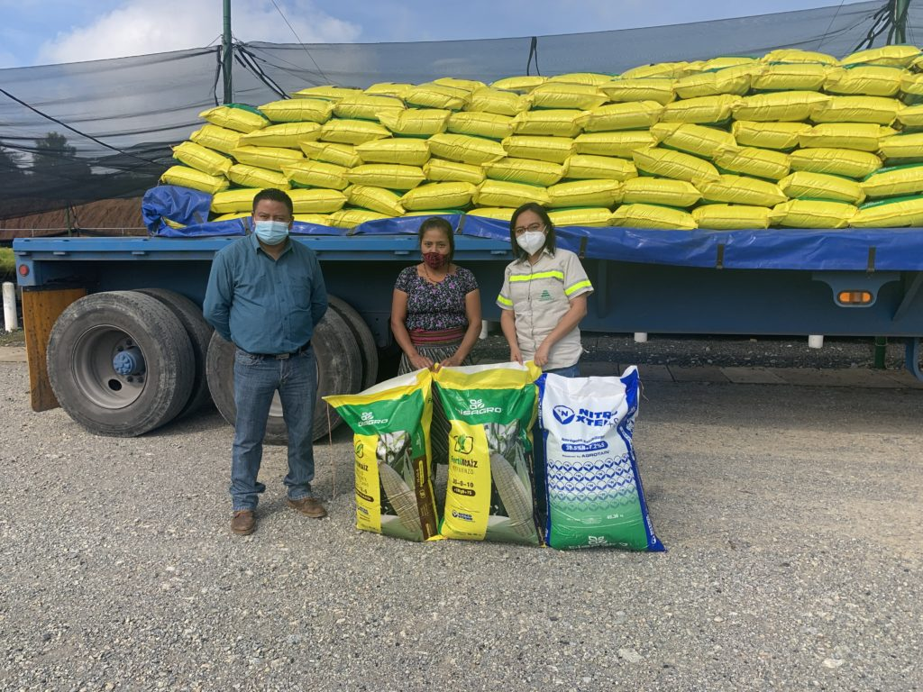 participantes del sistema milpa reciben insumos para mejorar cultivo y productividad construyendo juntos Progreso Latam Guatemala
