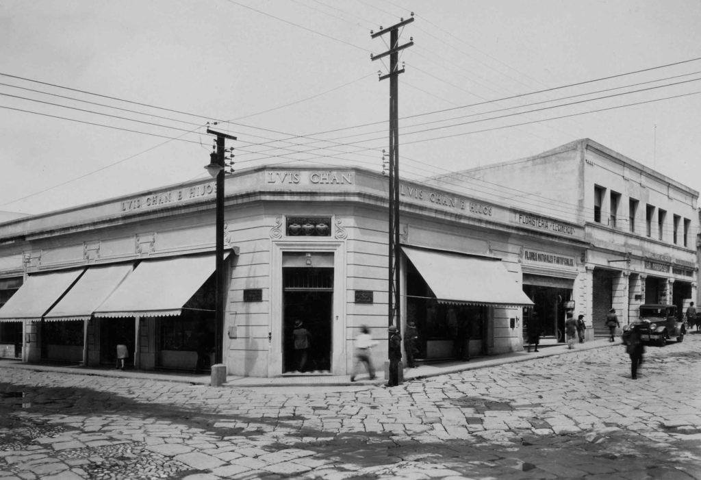 Edificio Luis Chang Esquina 9na y 9na zona 1 centro histórico ciudad Guatemala Fototeca del Museo Carlos F. Novella