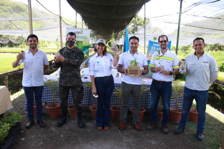 Entregan donación de 100 mil árboles para luchar contra el cambio climático cementos progreso guatemala donaciones