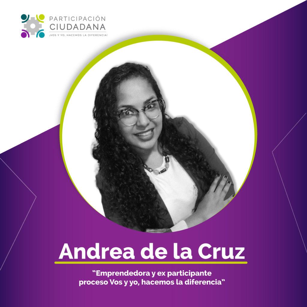 Andrea de la Cruz foro virtual como construir ciudadania en tiempos de pandemia