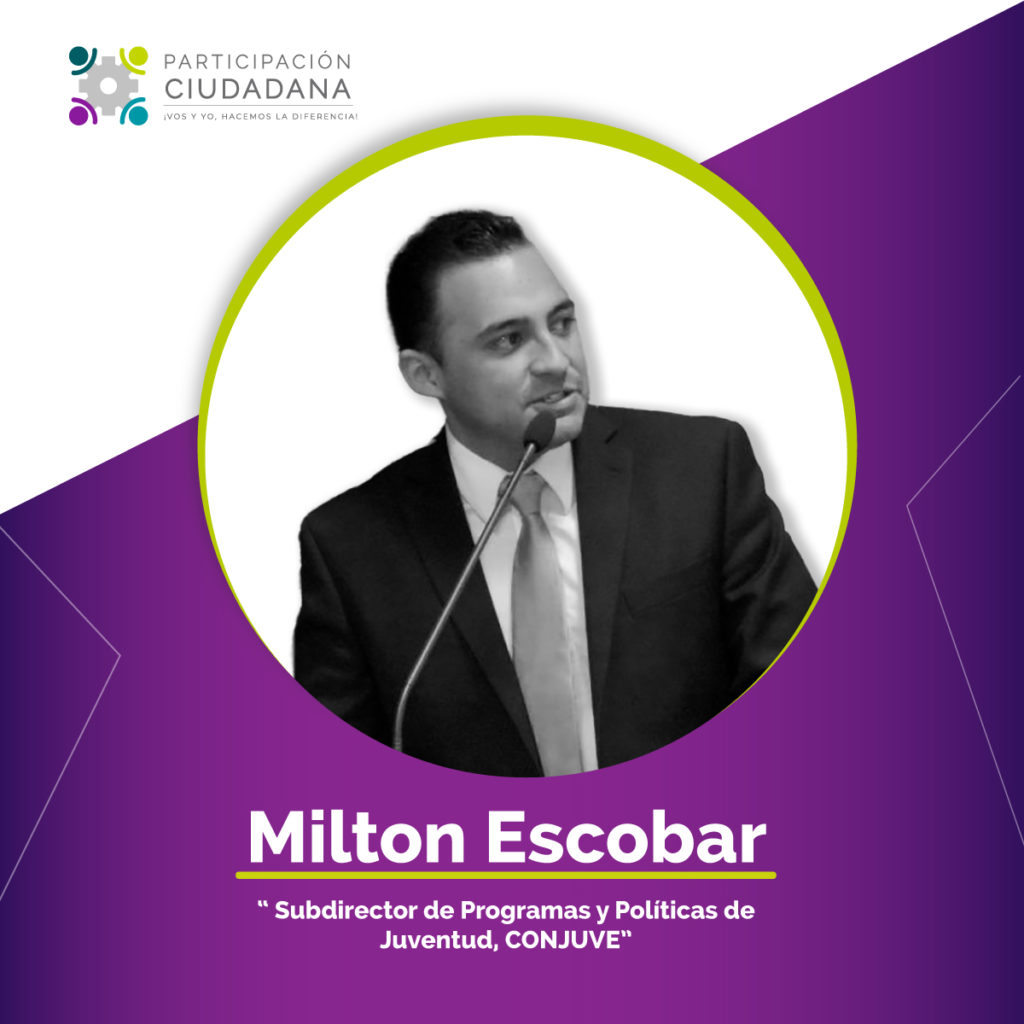 Milton Escobar de Conjuve Guatemala