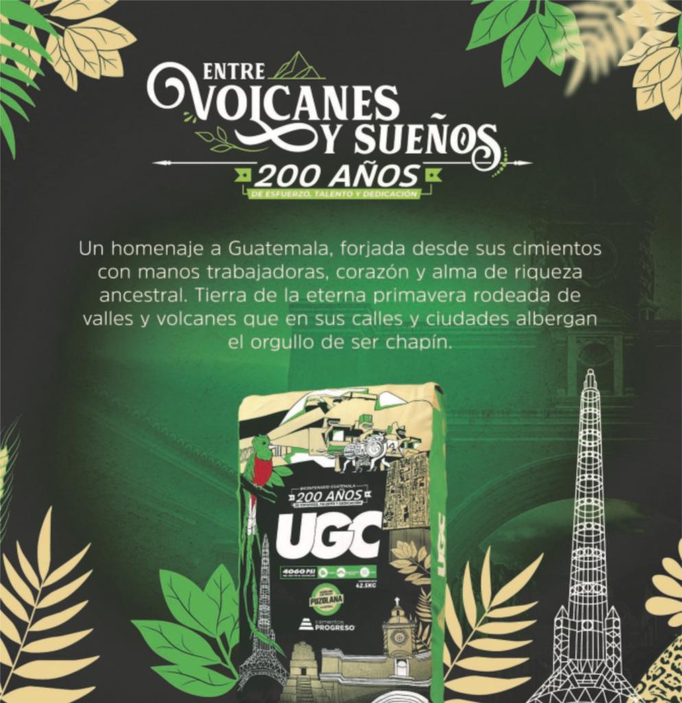 entre volcanes y suenos saco UGC capital progreso guatemala bicentenario 200