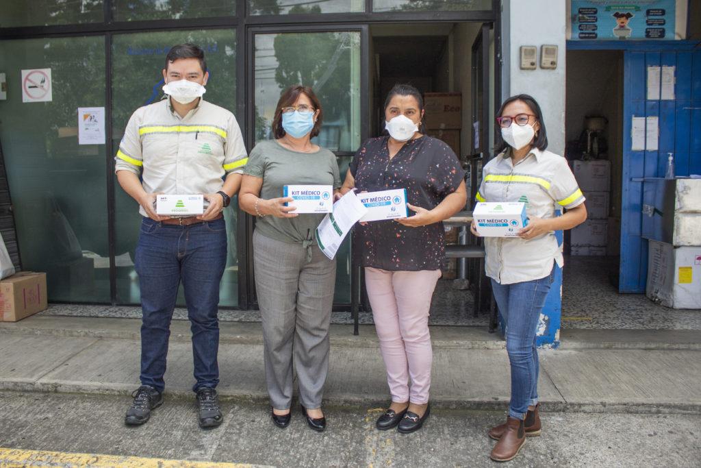 mil kits covid-19 fueron entregados por cementos progreso Guatemala