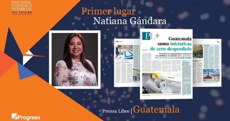 Ganadores del Premio Regional de Periodismo en Sostenibilidad Progreso Latam 2021 primer lugar guatemala prensa libre