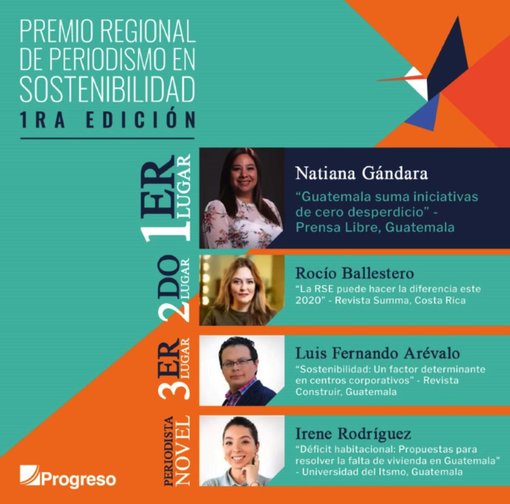 ganadores premio regional de periodismo en sostenibilidad progreso latam